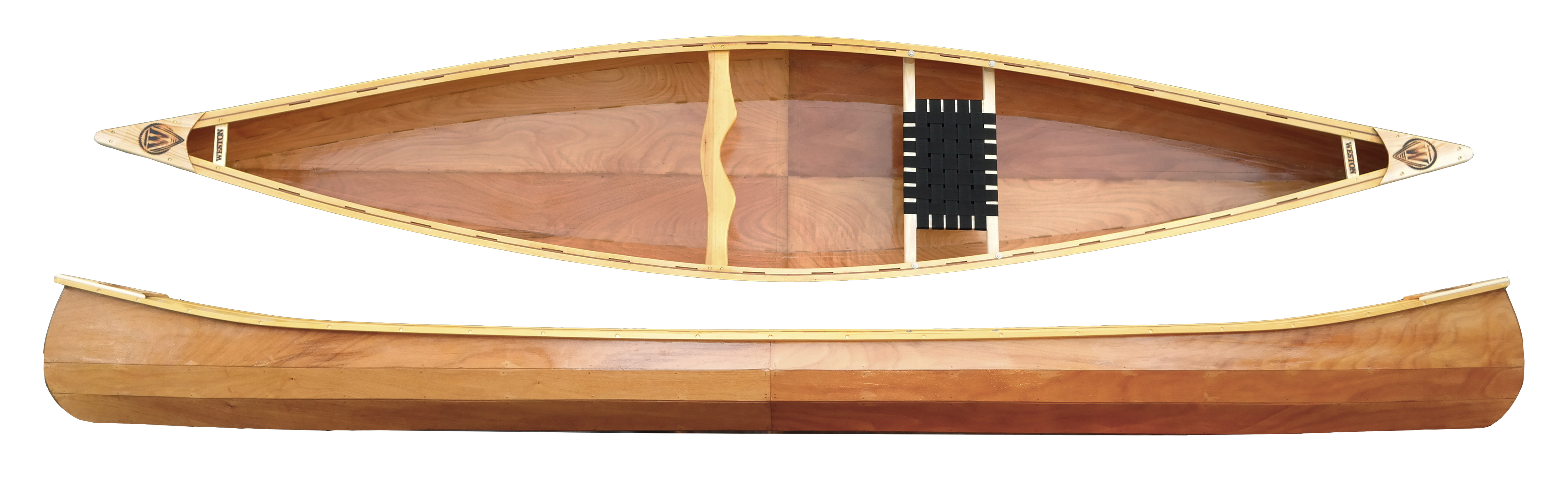 handmade beautiful wooden canoe