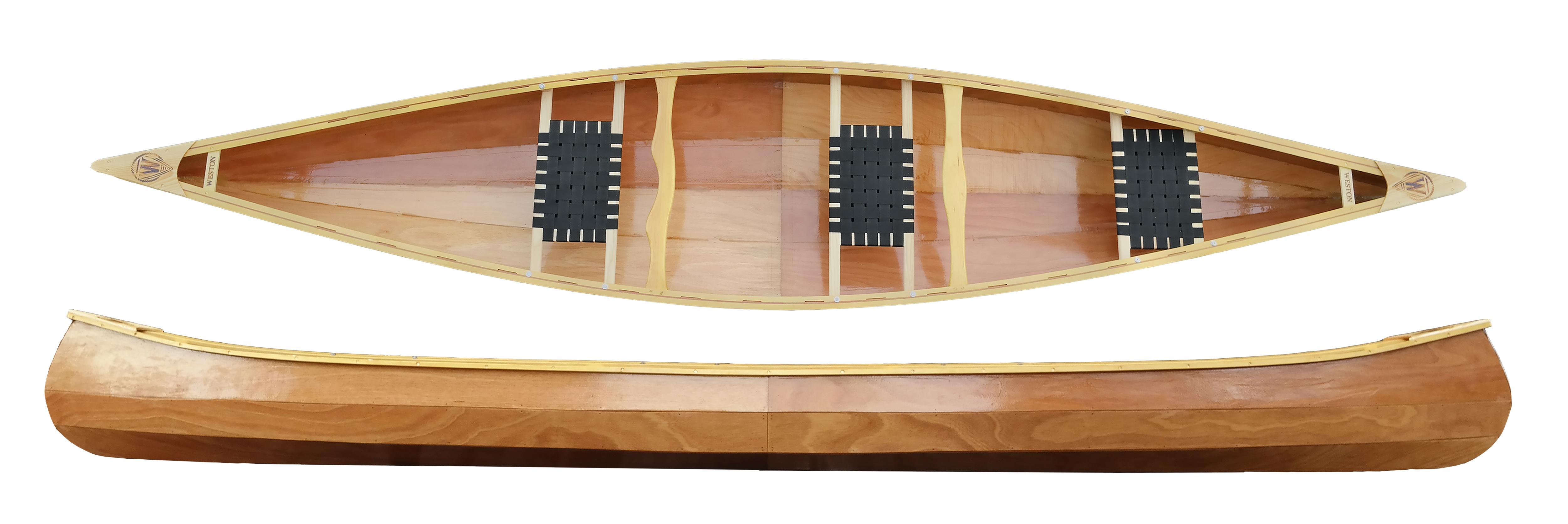 Handmade Wooden Canoe Weston 156
