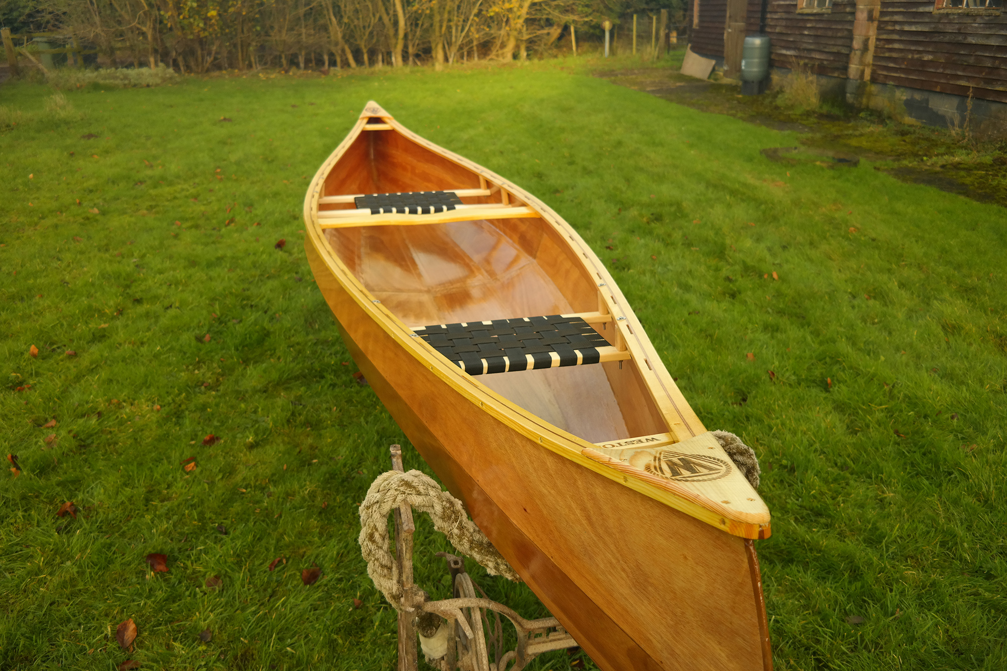 Weston 149 Wooden Canoes Handmade In Norfolk