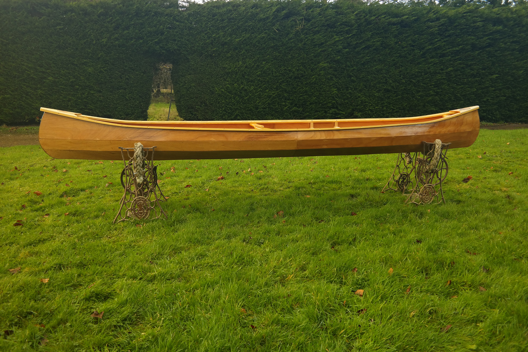 Weston Wooden Canoes 140 Side