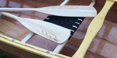 wooden canoe paddle