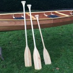 beautiful wooden canoe paddle