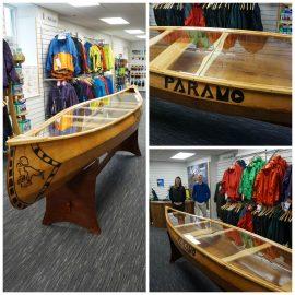 Custom Canoe Table for Paramo Directional Clothing